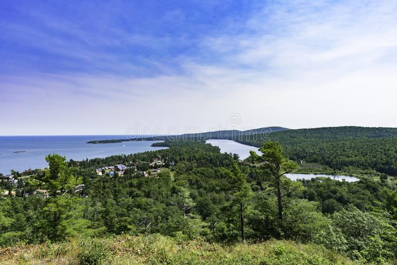 Brockway Mountain View. A beautiful summer day atop Brockway Mountain stock photography
