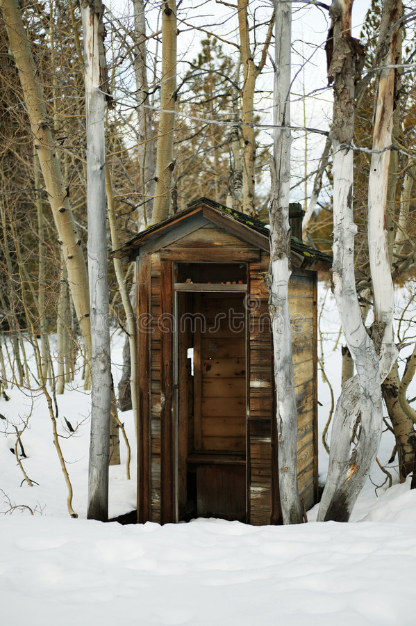 Brockway Outhouse stock photography