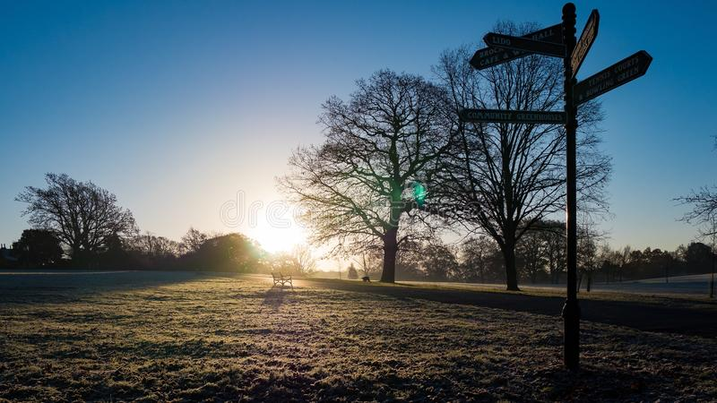 Brockwell Park går royaltyfria bilder