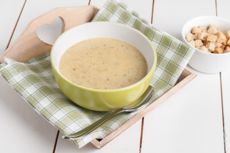 Brocoli et soupe à stilton photos libres de droits
