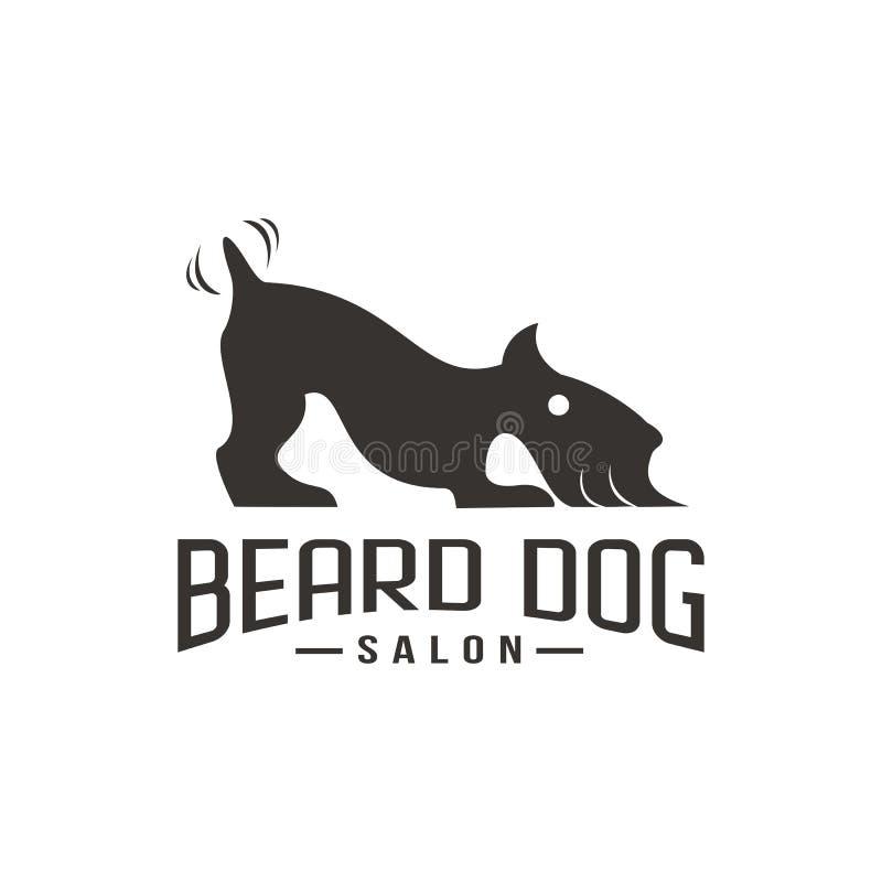 Broda salonu logo wektoru psia ilustracja ilustracji