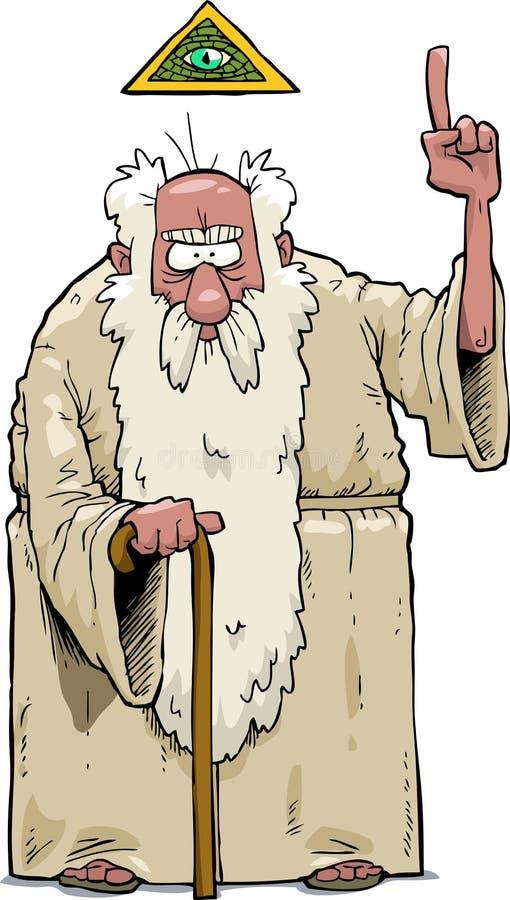 Brodaty bóg ilustracja wektor