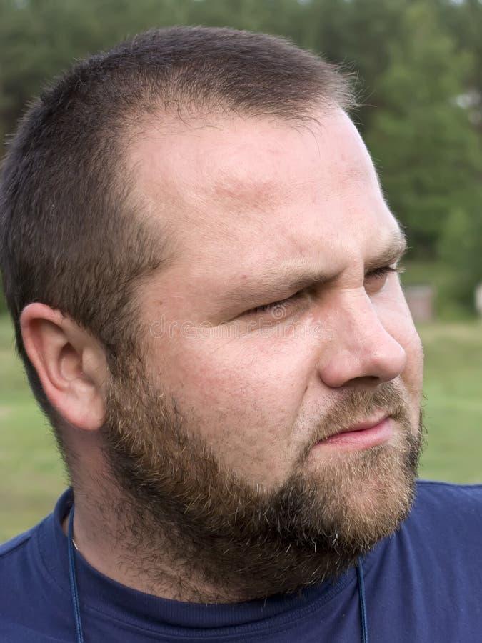 brodaty człowiek portret zdjęcia royalty free