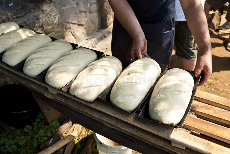 Broden van brood royalty-vrije stock foto's