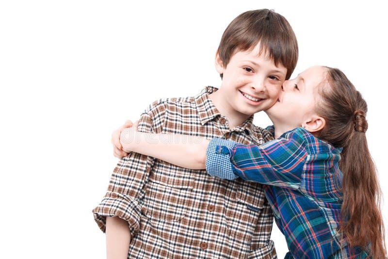 Broder And Sister Love royaltyfri foto