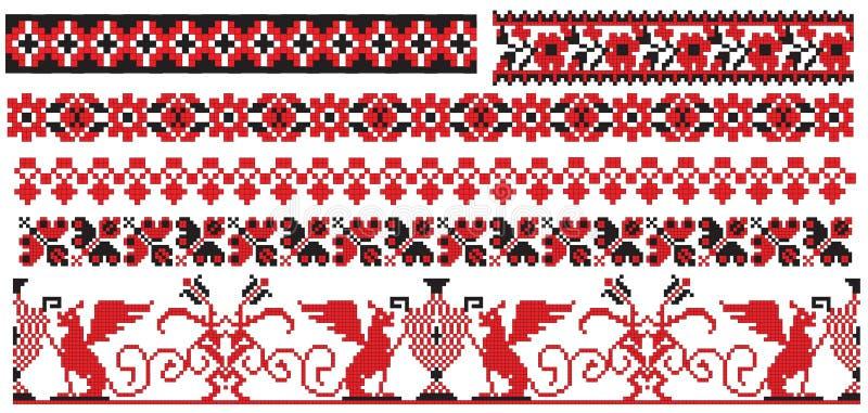 brodera den gammala modellryssukrainare vektor illustrationer