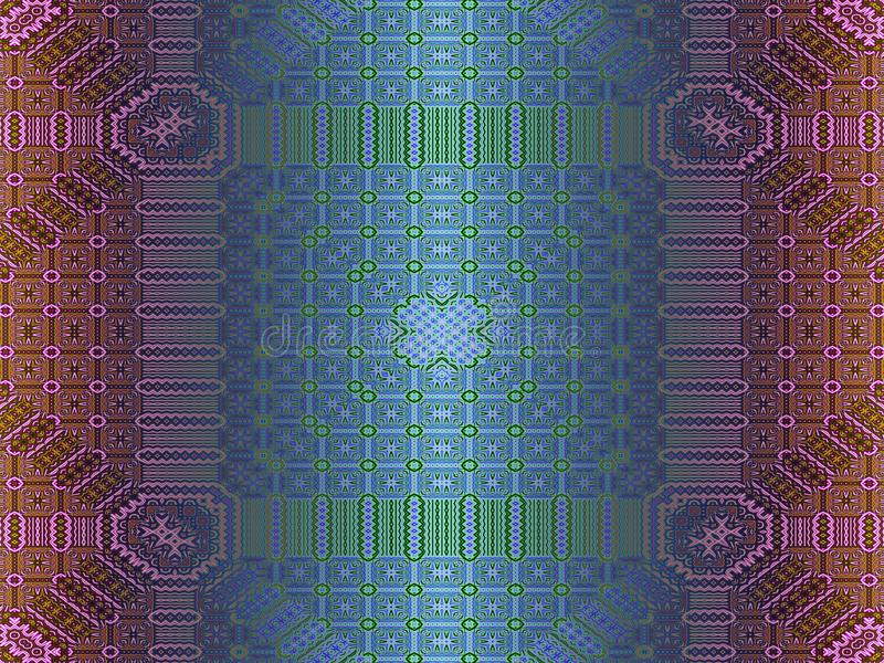 Broderad fractal vektor illustrationer