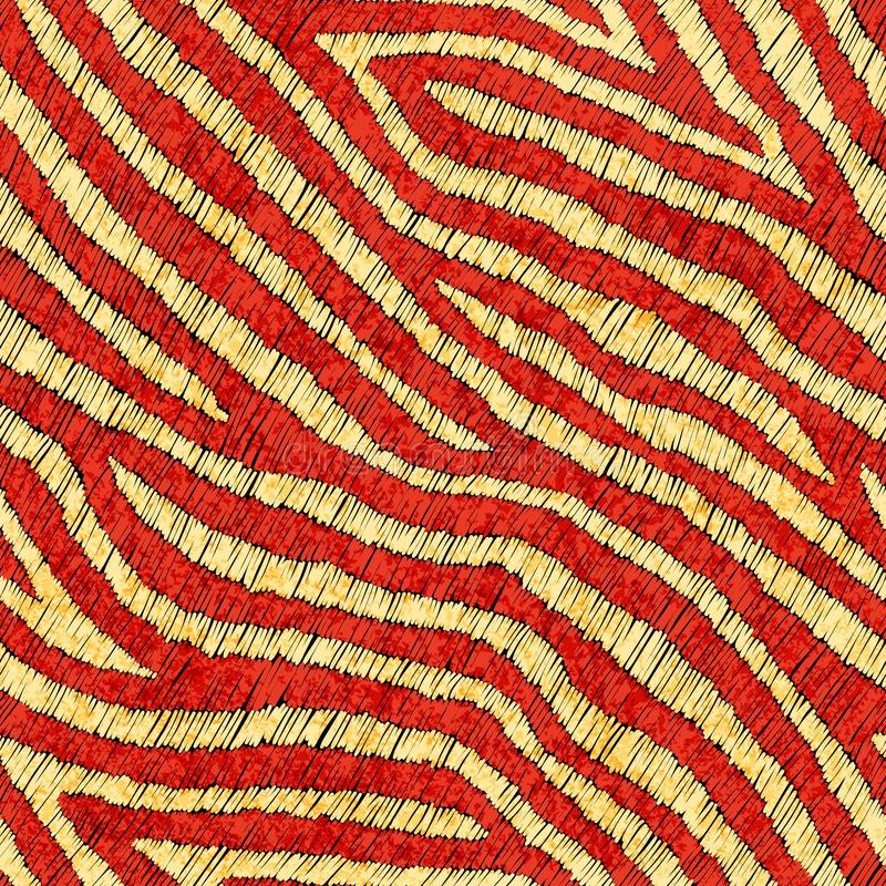Broderad sömlös modell för päls Tryck f?r textiler som dras av handen ocks? vektor f?r coreldrawillustration royaltyfri illustrationer