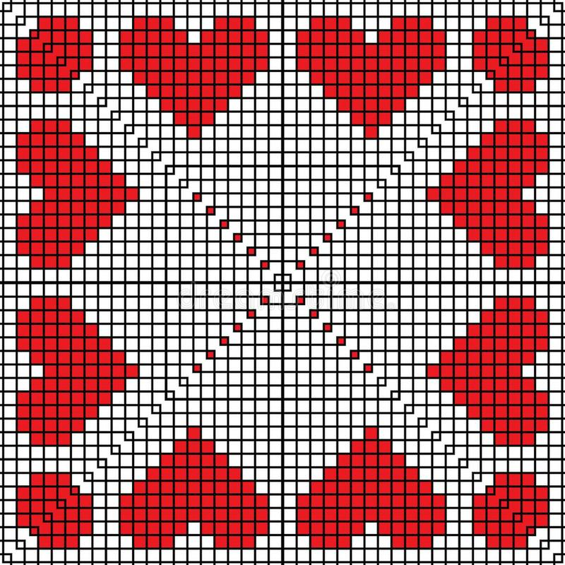 Broderade hjärtamodellborstar stock illustrationer