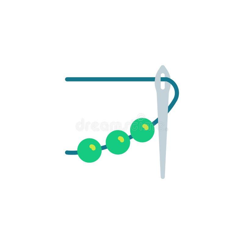 Broderi plan symbol för handarbete vektor illustrationer
