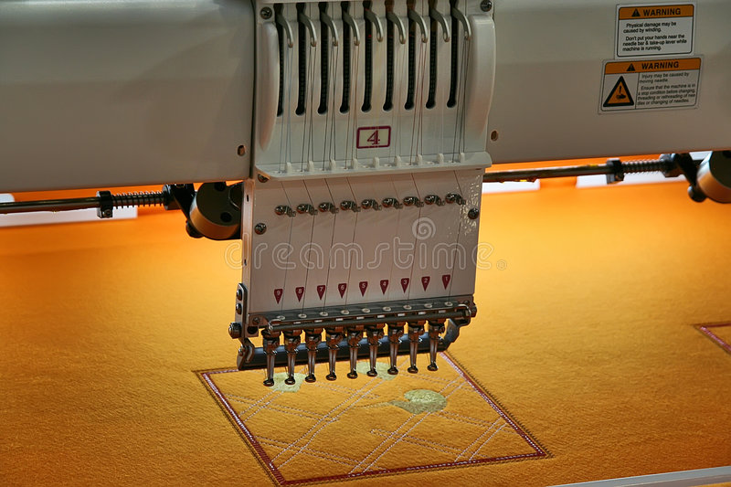 Download Broderie image stock. Image du machines, couture, industrie - 8670835