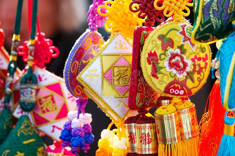 broderie colorée chinoise images stock
