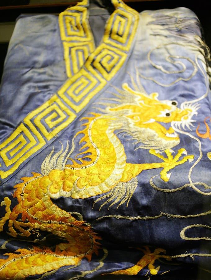 Broderie de dragon photographie stock
