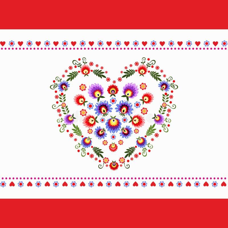 Broderie de gens de coeur illustration de vecteur