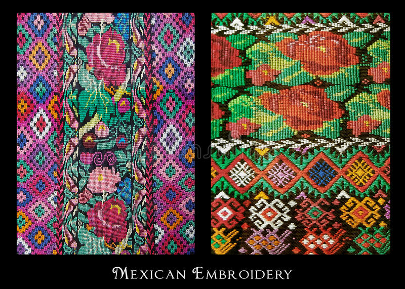 Broderie mexicaine photo stock