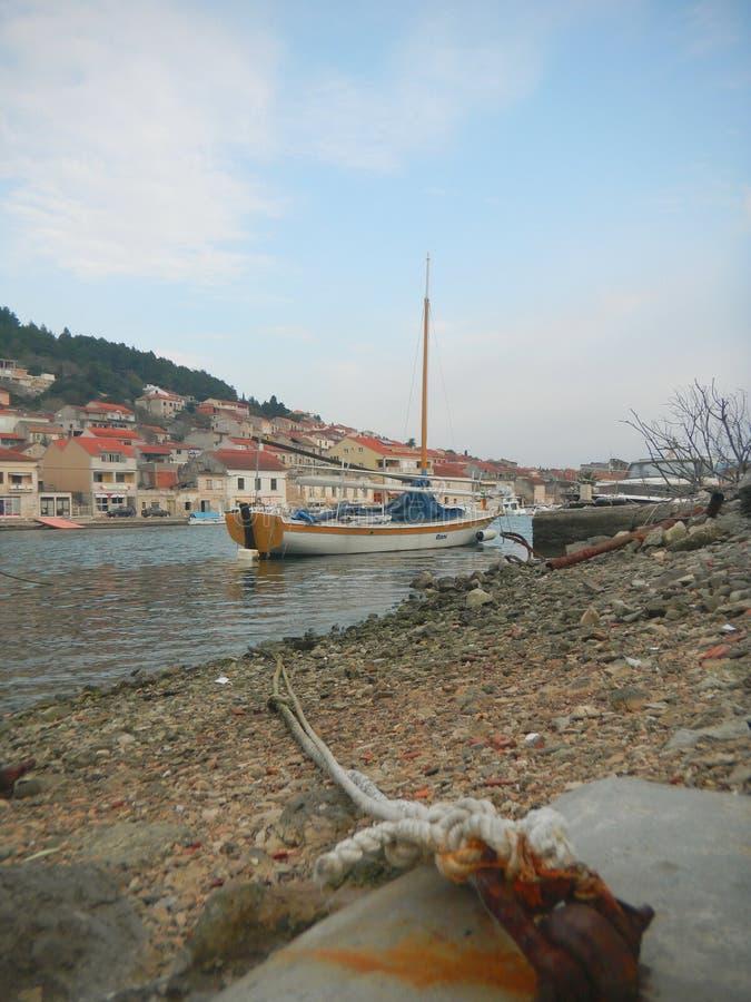 Broderie pour des bateaux images stock