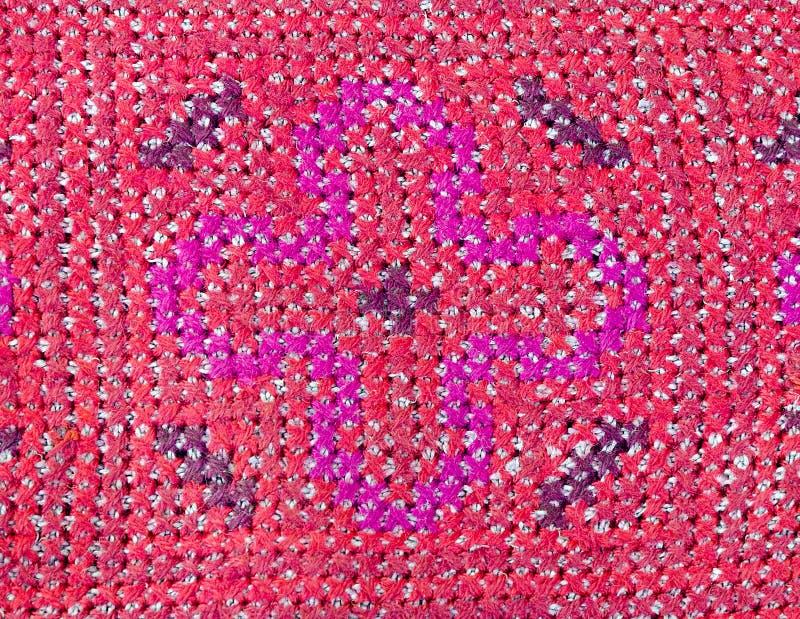 Broderie thaïlandaise, style fait main de textile de tribu photo libre de droits