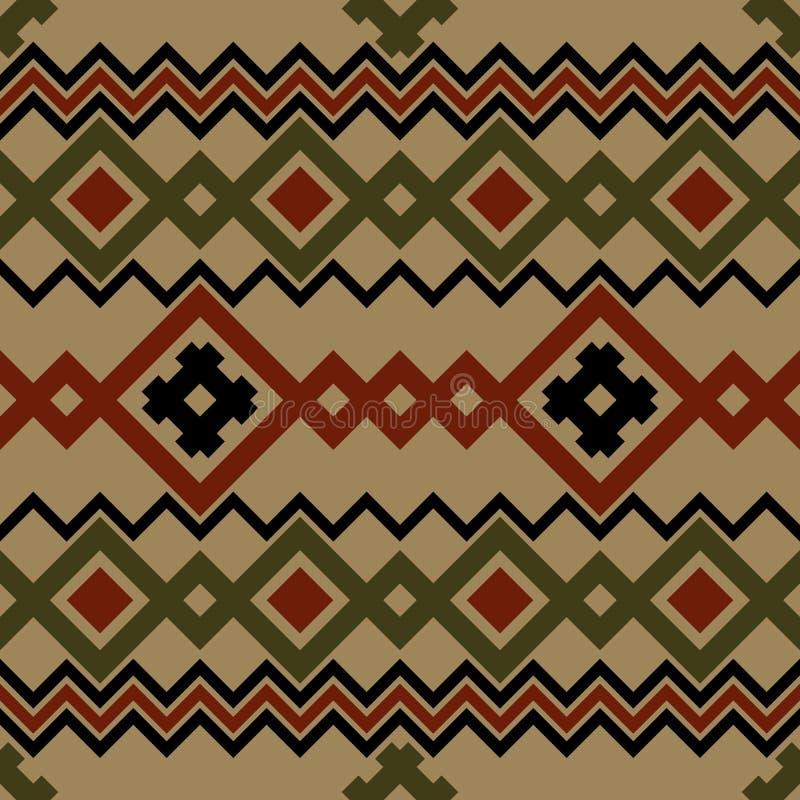 Broderii lub dzianiny pogańskiego slavic estonian skandinavian norweski rosyjski ukraiński plemienny etniczny ludowy bezszwowy wz ilustracji