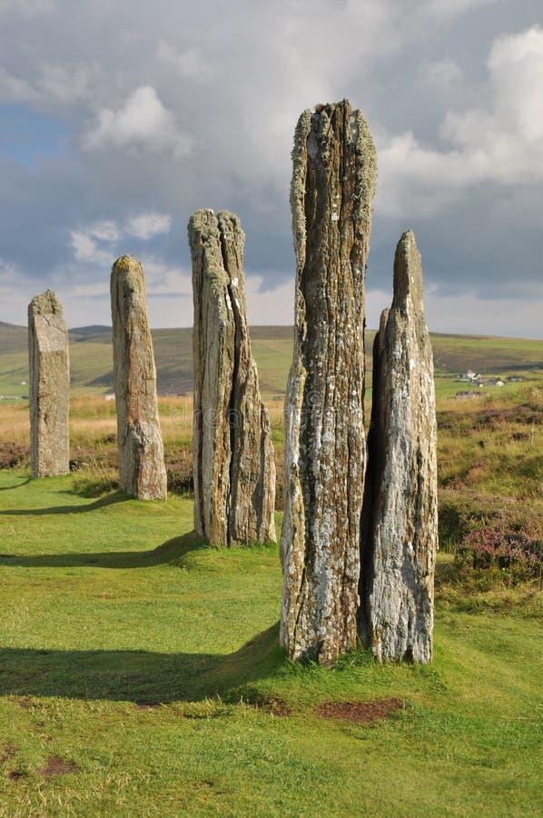 brodgar cirkel scotland arkivfoton