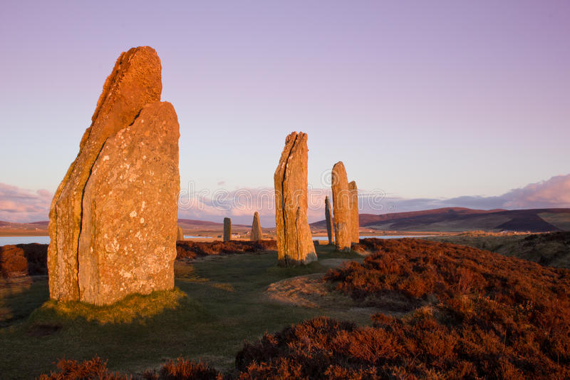 Brodgar in the evening royalty free stock photography