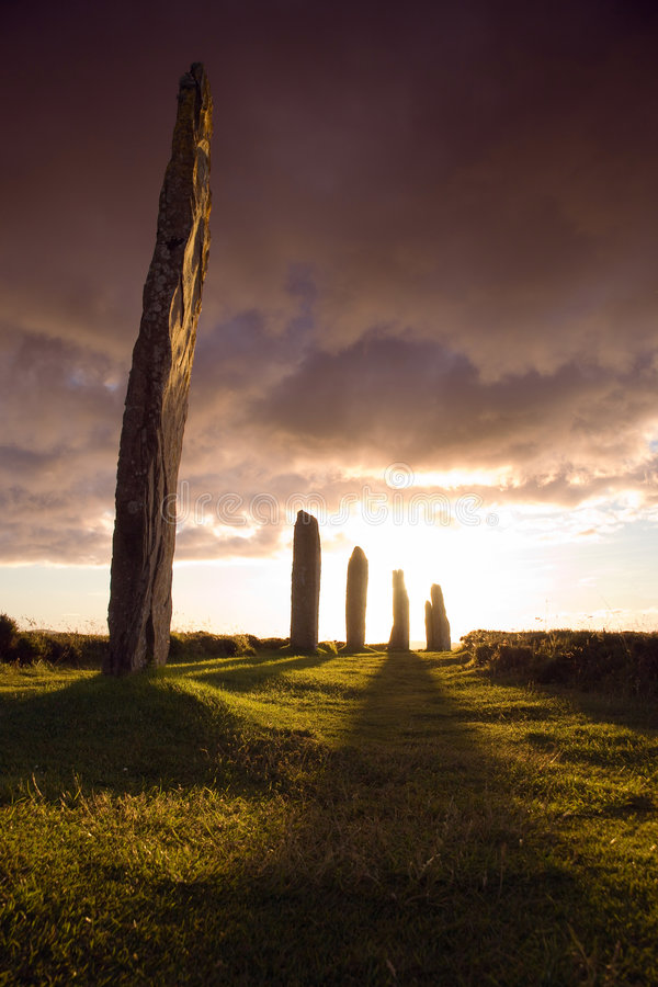 Brodgar excessif photo stock
