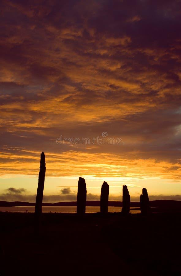 brodgar pierścienia orkneys Scotland obrazy stock