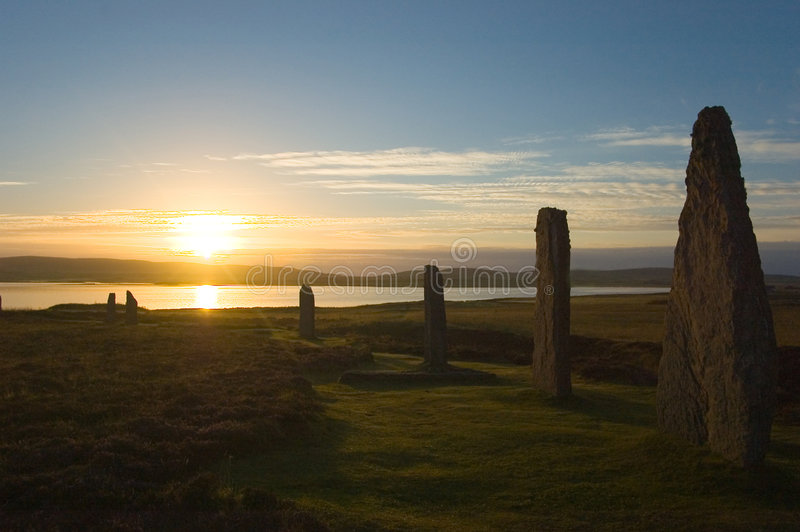 brodgar pierścienia orkneys Scotland fotografia stock