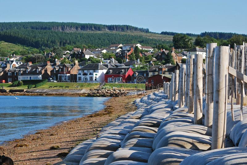 Brodick on the Isle of Arran. This is the town of Brodick on the Isle of Arran . It is the largest town on the Isle and Arran has a total population of just over stock image