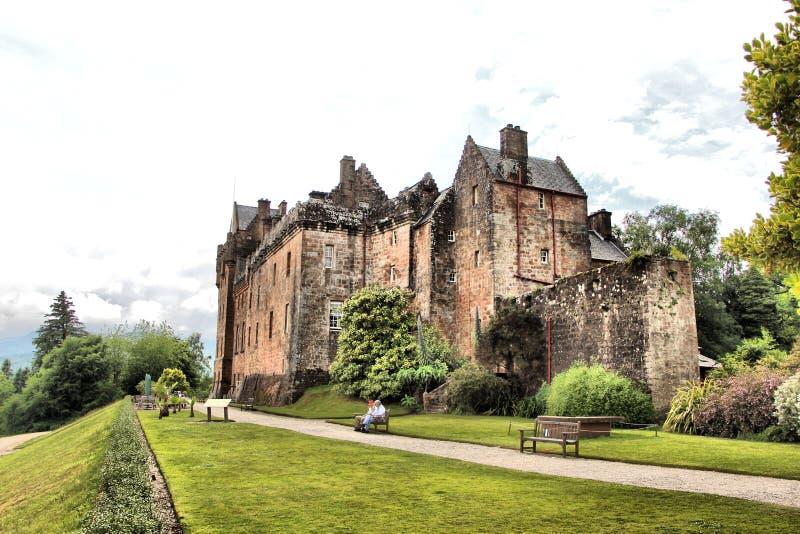 Brodick-Schloss auf der Insel von Arran lizenzfreies stockfoto