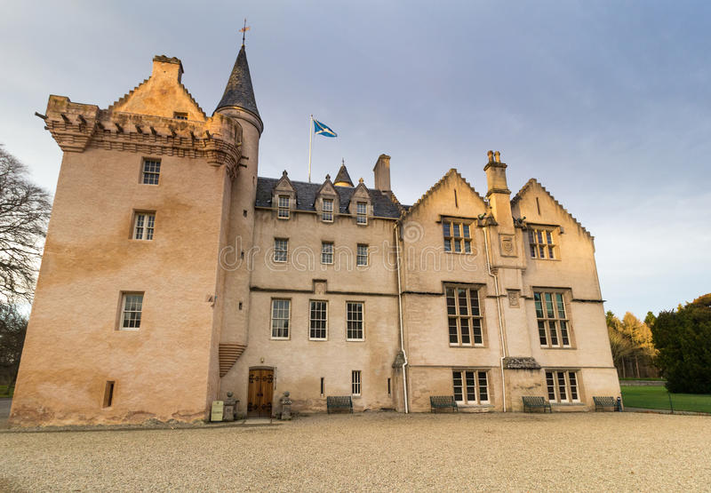 Brodie Castle. Scotland. Large Mansion House in the Scots Baronial Style stock images