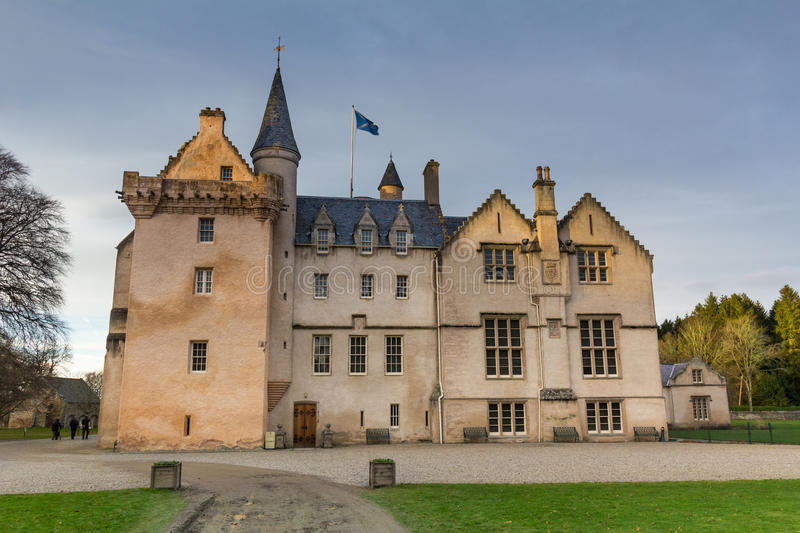 Brodie Castle, Scotland. Large Mansion House in the Scots Baronial Style royalty free stock photography