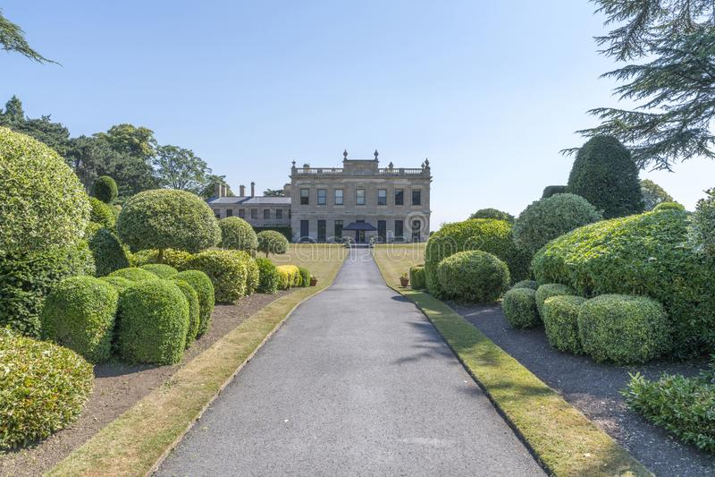 Brodsworth Salão, Doncaster, Inglaterra imagem de stock royalty free