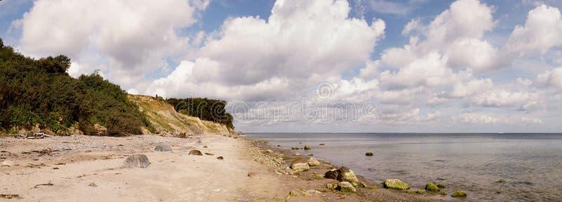 Brodtener Ufer panorama royaltyfri bild