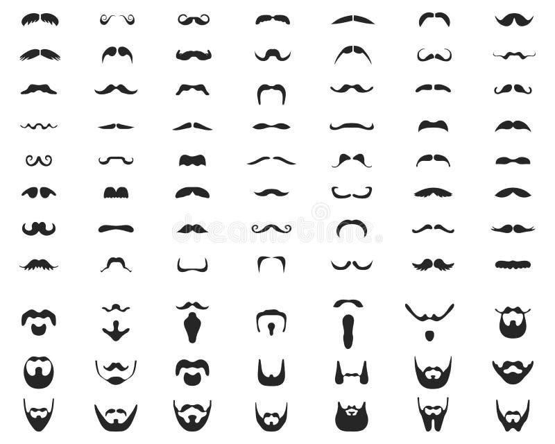 brody i wąsy royalty ilustracja