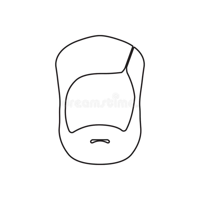 Brody ikona Element fryzjer męski dla mobilnego pojęcia i sieci apps ikony Kontur, cienka kreskowa ikona dla strona internetowa p ilustracji