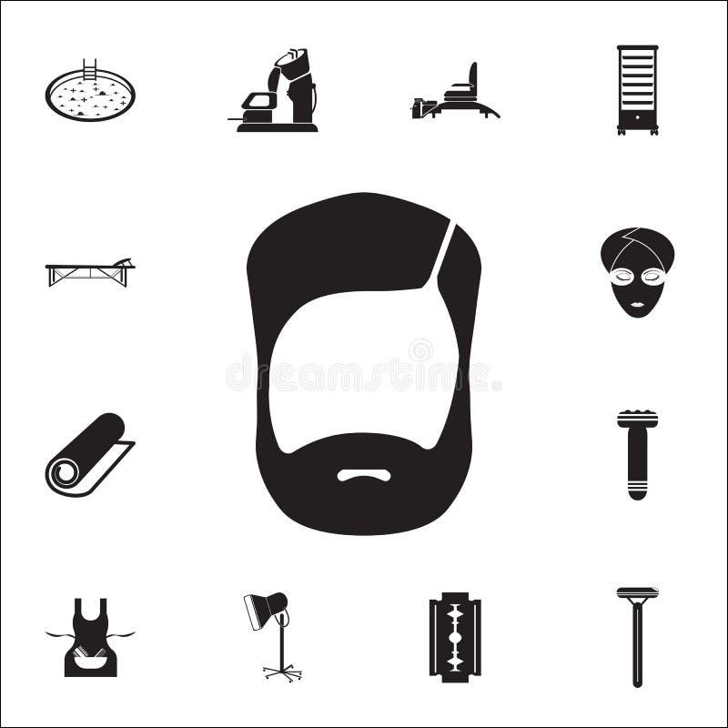 Brody ikona Szczegółowy set fryzjer męski ikony Premii ilości graficznego projekta znak Jeden inkasowe ikony dla stron internetow ilustracja wektor