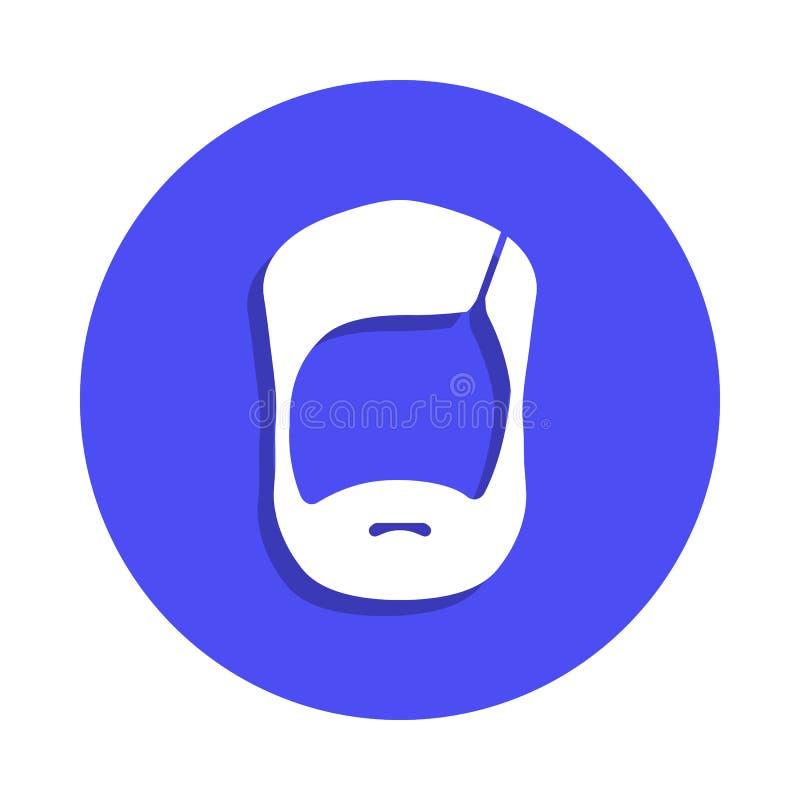 Brody ikona w odznaka stylu Jeden fryzjer męski inkasowa ikona może używać dla UI, UX royalty ilustracja