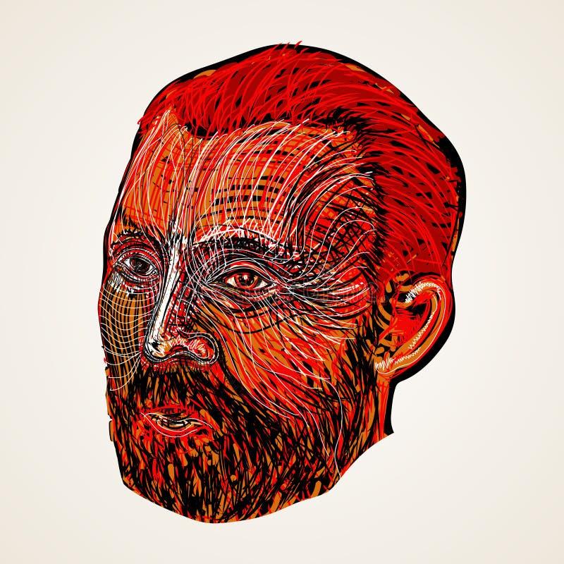 brody ludzi twarzy patroszona ręka royalty ilustracja