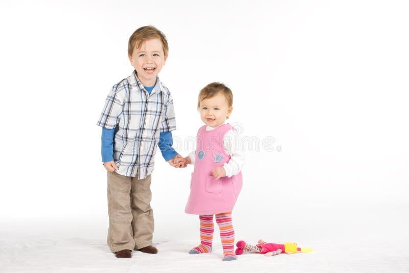 Broer en zuster royalty-vrije stock afbeelding