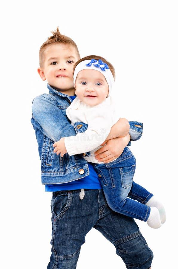 Broer en zuster royalty-vrije stock afbeeldingen