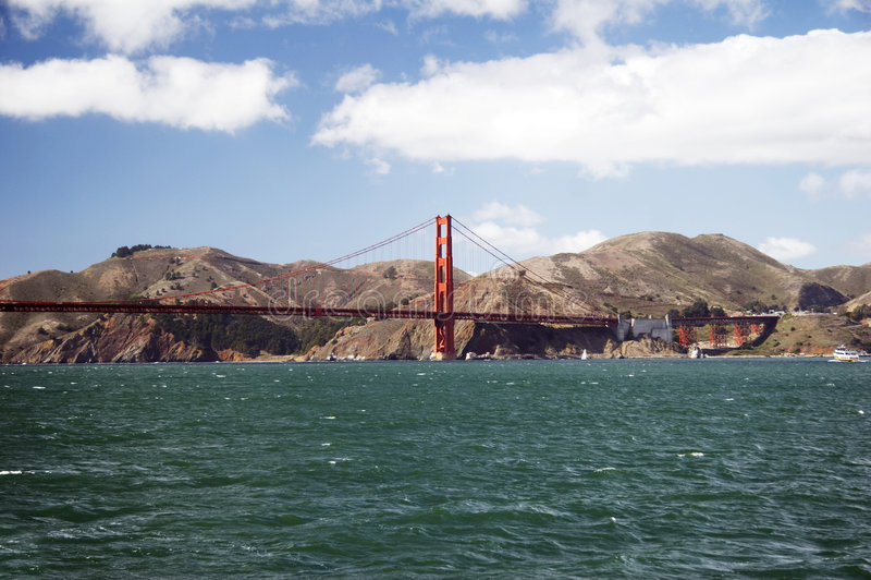 brofrancisco port guld- san USA royaltyfri foto