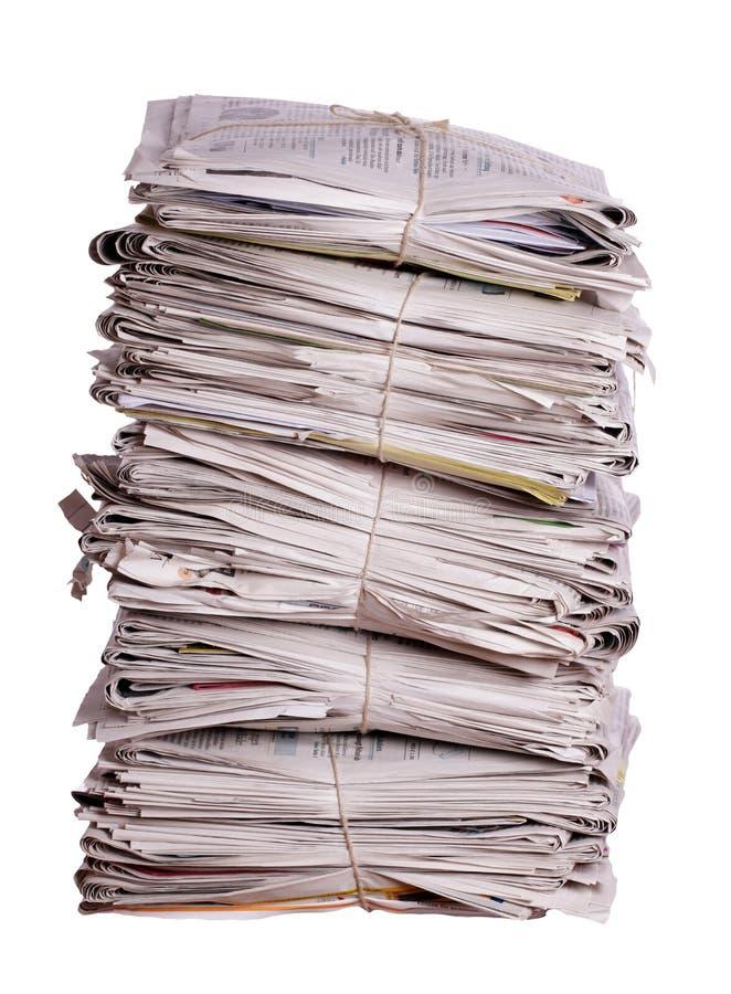 Brogować stare gazety obrazy royalty free