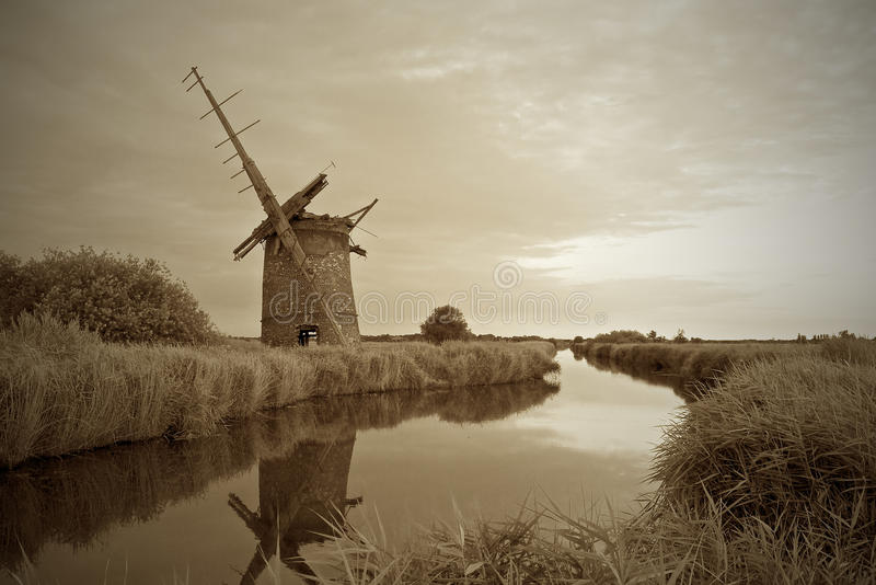 Brograve mill on the Norfolk Broads. stock photos