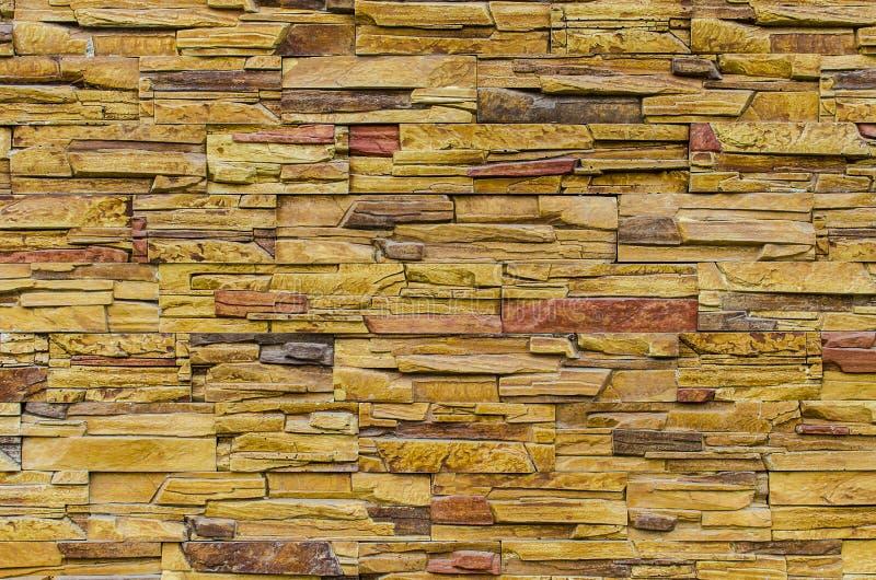 Brogująca łupkowa kamienna ściana zdjęcie stock