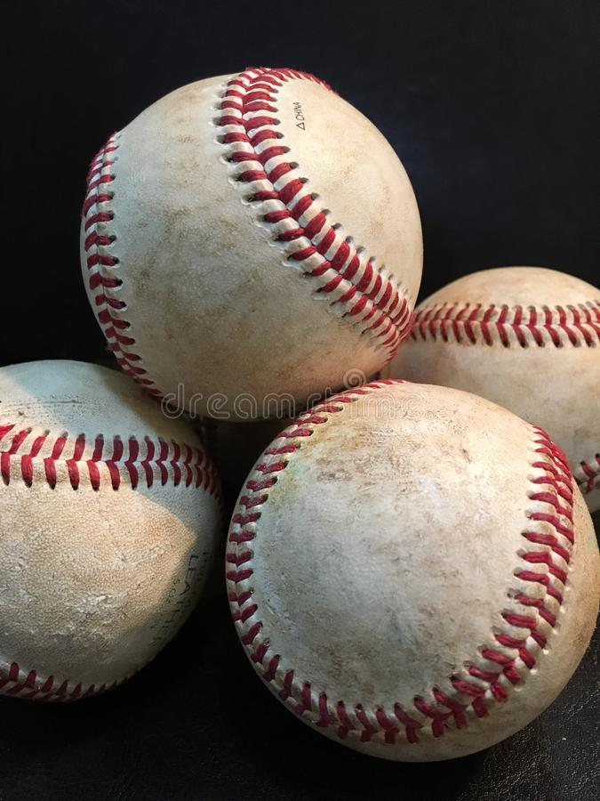 Brogujący baseballe fotografia royalty free