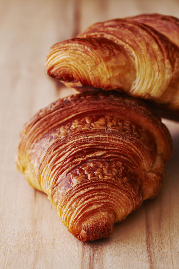 Brogujący Croissants obraz stock