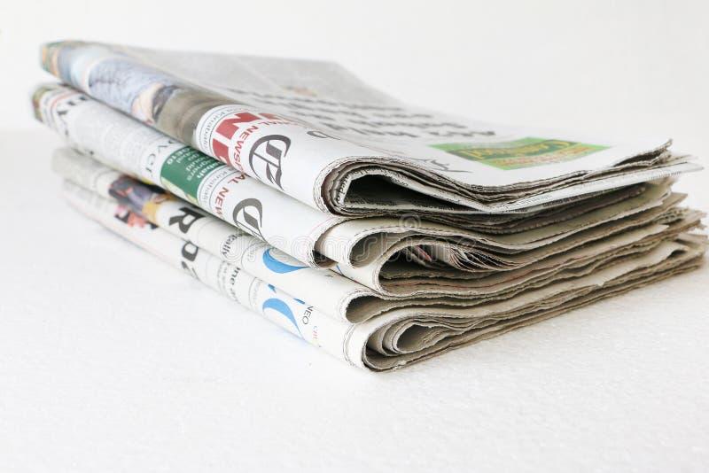 Brogujący gazeta obrazy royalty free