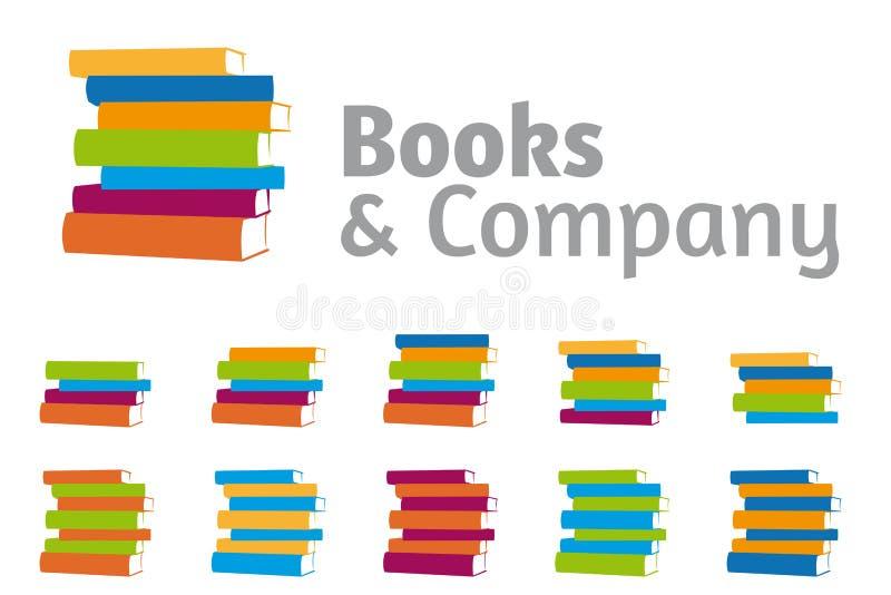 Brogujący książki firmy loga set royalty ilustracja