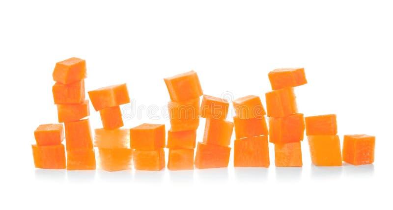 Brogujący marchewka plasterki zdjęcia stock