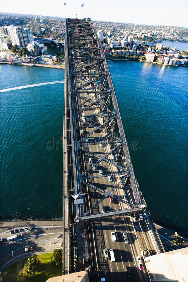 brohamn sydney royaltyfria bilder